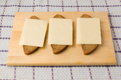 The cheese sandwiches Royalty Free Stock Image