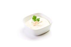 Cheese sauce on white background Stock Photos