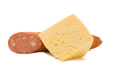 Cheese and sausage Royalty Free Stock Photo