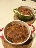 Cheese and sausage casserole Stock Photos