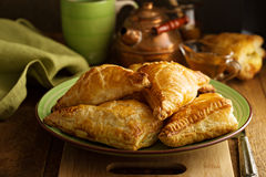 Cheese savory pastries Royalty Free Stock Photos
