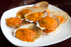 Cheese scallops. An image of a gourmet Japanese cheese scallops Stock Photo