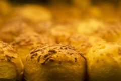 Cheese scones macro view. Cheese scones macro view at the bakery stock images