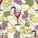 Cheese seamless pattern Royalty Free Stock Photo