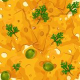 Cheese seamless pattern Stock Photos