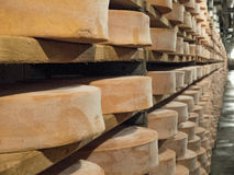 Cheese seasoning caves. Copper mine used for seasoning mountain cheese Stock Image