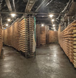 Cheese seasoning caves. Copper mine used for seasoning mountain cheese Stock Images