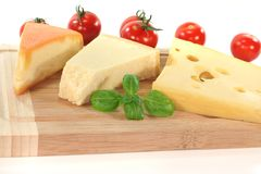 Cheese Selection Royalty Free Stock Photos