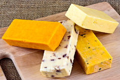 Types of cheese Royalty Free Stock Photo