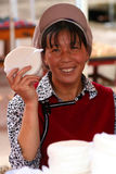 Cheese seller Royalty Free Stock Photos