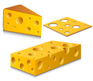 Cheese set Stock Image