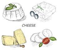 Cheese set Royalty Free Stock Photo