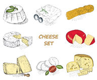 Cheese set Stock Image