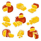 Cheese set. Vector Stock Images