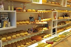 Cheese shop Stock Photography