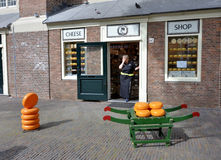 Cheese shop in Amsterdam Stock Images