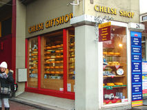 Cheese shop in the center of Amsterdam . Netherlands Royalty Free Stock Images