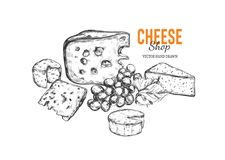 Cheese shop concept royalty free illustration