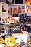 Cheese shop counter, Chipping Campden. Stock Photography