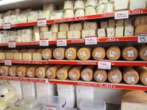 Cheese Shop In Heraklion Crete Greece Stock Photos