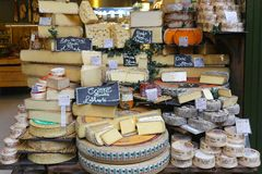 Cheese shop Royalty Free Stock Images
