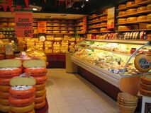 Cheese Shop at Rotterdam Mall, Ted's Alfa Romeo, Rijstafel Royalty Free Stock Photo