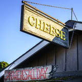 Cheese shop. Sign in fishtown, Leland, Michigan Stock Photography
