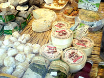 Cheese shop Stock Images