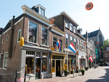 Cheese shops in city center of Gouda, Holland Stock Image