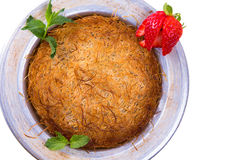 Cheese and Shredded Dough Dessert Kunefe Royalty Free Stock Photography