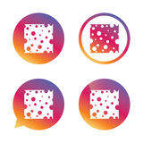 Cheese sign icon. Slice of cheese. Royalty Free Stock Photos