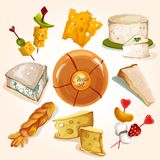 Cheese sketch collection Stock Photo