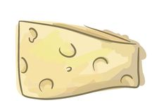 Cheese sketch Royalty Free Stock Photos