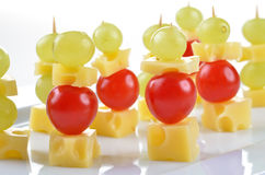 Cheese skewer Stock Photography