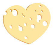 Cheese Slice Heart Royalty Free Stock Photography