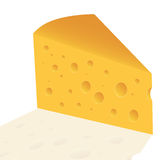 Cheese slice with holes Royalty Free Stock Photo