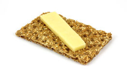 Cheese Slice Sesame Rye Cracker Royalty Free Stock Photos