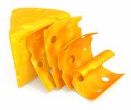 Cheese sliced Stock Photo