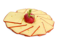 Cheese slices Royalty Free Stock Photos