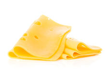 Cheese slices close-up Royalty Free Stock Photo