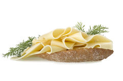 Cheese slices Royalty Free Stock Images