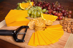 Cheese and snack tray Royalty Free Stock Photos