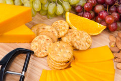 Cheese and snack tray Royalty Free Stock Photography