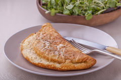 Cheese soufflé omelette Royalty Free Stock Image