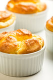 Cheese Souffle. Parmesan and Gruyere cheese souffle Royalty Free Stock Photos