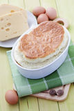 Cheese souffle. Delicious cheese souffle with cheese and eggs - food and drink Stock Photos