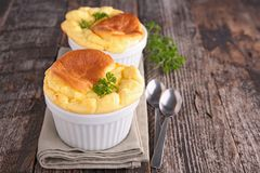 Cheese souffle. Close up on cheese souffle Stock Images