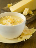 Cheese soup Royalty Free Stock Image