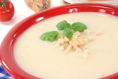 Cheese soup stock photography