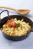 Cheese spaetzle Stock Images